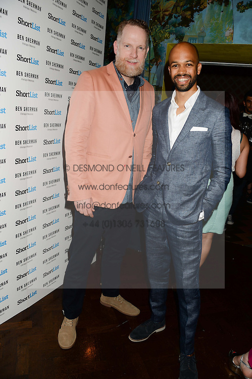 Left to right, MARK MAIDMENT CEO of Ben Sherman and DARREN SINGH publisher of ShortList at the the London Collections: Men 2013 Ben Sherman and Shortlist Magazine party at Sketch, Conduit Street, London on 18th June 2013.