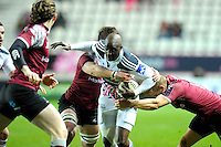 Djibril Camara - 11.12.2014 - Stade Francais / Newcastle Falcons - European Rugby Challenge Cup<br />Photo : Andre Ferreira / Icon Sport