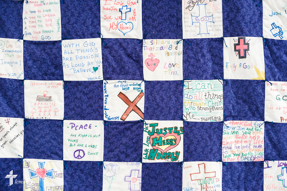 A handmade quilt at Family of God on Wednesday, March 28, 2018, in Detroit. LCMS Communications/Erik M. Lunsford
