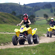 People riding through a quad bike course near Taupo with Taupo Quad Bikes. Taupo, New Zealand. 7th January 2011. Photo Tim Clayton