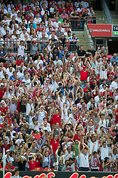 LONDON, ENGLAND - Saturday, June 4, 2011: England's supporters make a Mexican Wave during the UEFA Euro 2012 qualifying Group G match against Switzerland at Wembley Stadium. (Photo by David Rawcliffe/Propaganda)
