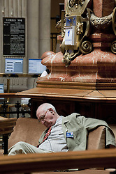 April 25, 2013. File Photo - A Trader rest in Front of to Electronic Stick Board AT The Bolsa de Madrid in Madrid Capital of Spain June 1 2012 Madrid S IBEX 35 Index fell on Friday to 6 065 Points following successive decline in The Whole Week. June 2, 2012. Photo By imago/i-Images<br />