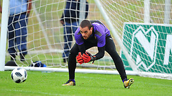 Cape Town--180329 Cape Town City goalkeeper Sage Stephens at training preparing for heir Nedbank Cup game against Sundowns on sunday  .Photographer;Phando Jikelo/African News Agency/ANA