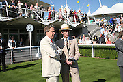 The Earl of March and Rod Fabricus, Glorious Goodwood. 31 July 2007.  -DO NOT ARCHIVE-© Copyright Photograph by Dafydd Jones. 248 Clapham Rd. London SW9 0PZ. Tel 0207 820 0771. www.dafjones.com.