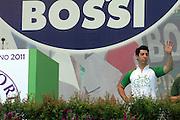Renzo Bossi, son of Umberto at a meeting of Lega Nord (North League party) in Pontida, June 19, 2011. © Carlo Cerchioli..Renzo Bossi, figlio di Umberto, al raduno della Lega Nord al raduno a Pontida, 19 giugno 2011.