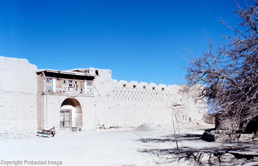 25 November 1976<br /> Kabul. Very long shot from pass leading to Tara Khel. North of Pai Minar. Birthplace of Haji Sahib, Saduddin Ansari. Massive entrance gate.