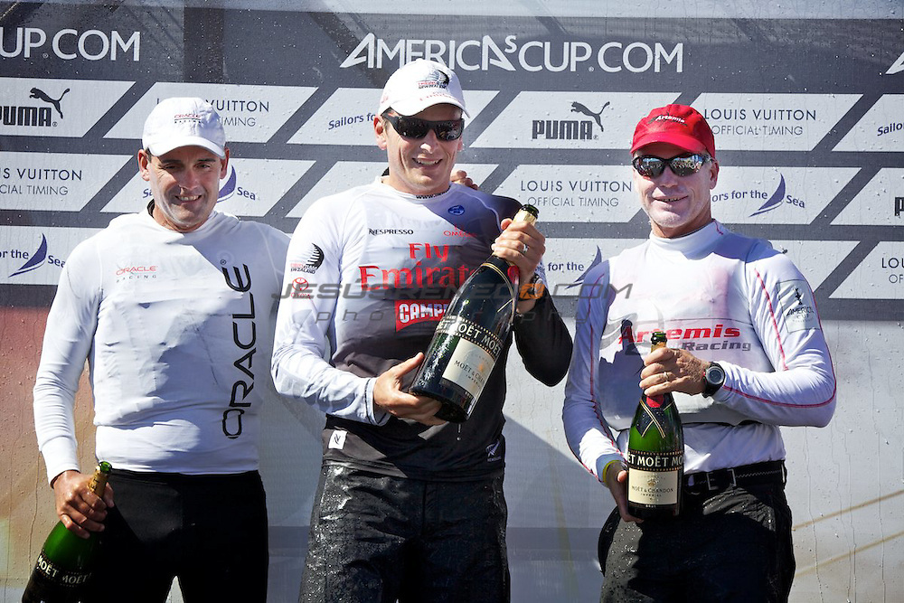 AC World Series,Cascais,Portugal,8/ 7/2011.Russell Coutts,Dean Barker,Terry Hutchinson.