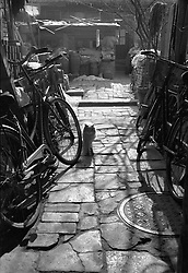 View inside entrance to typical old house in a hutong in Beijing