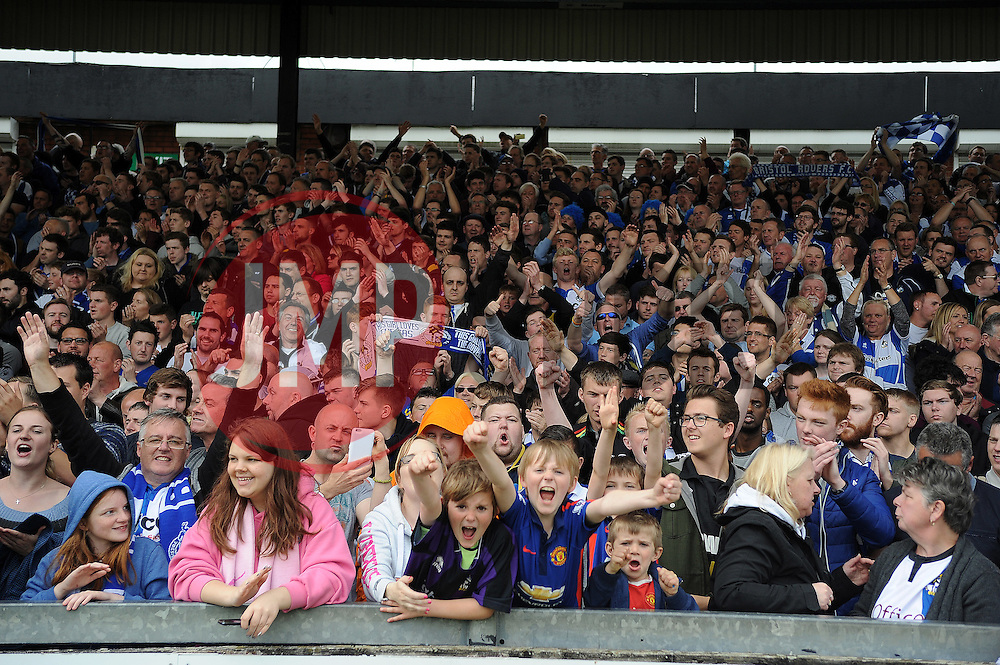 Bristol Rovers fans enjoy the win - Photo mandatory by-line: Neil Brookman/JMP - Mobile: 07966 386802 - 03/05/2015 - SPORT - Football - Bristol - Memorial Stadium - Bristol Rovers v Forest Green Rovers - Vanarama Football Conference