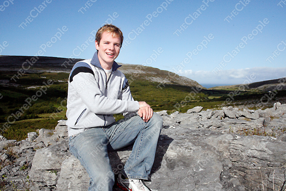 Peter O' Donoghue at home in Fanore.<br /><br /><br /><br />Photograph by Yvonne Vaughan.