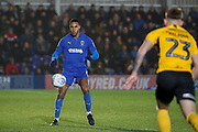 AFC Wimbledon defender Terell Thomas (6) about to control the ball during the EFL Sky Bet League 1 match between AFC Wimbledon and Southend United at the Cherry Red Records Stadium, Kingston, England on 1 January 2020.