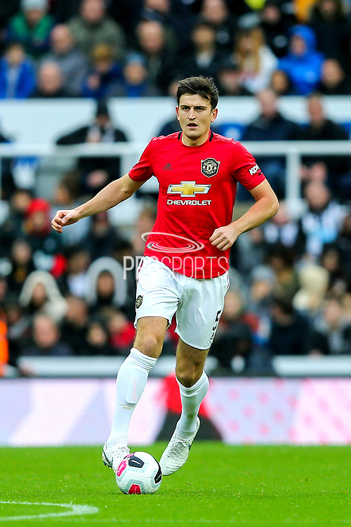 Harry Maguire (#5) of Manchester United during the Premier League match between Newcastle United and Manchester United at St. James's Park, Newcastle, England on 6 October 2019.