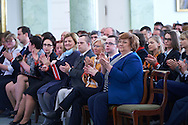 Anna Komorowska First Lady of Republic Poland during 30 years anniversary of The Special Olympics Poland at Presidential Palace in Warsaw on March 18, 2015.<br /> <br /> Poland, Warsaw, March 18, 2015<br /> <br /> For editorial use only. Any commercial or promotional use requires permission.<br /> <br /> Mandatory credit:<br /> Photo by © Adam Nurkiewicz / Mediasport