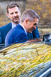 London, November 02 2017. New Defence Secretary Gavin Williamson emerges from 10 Downing Street on his way to announce his appointment at the Ministry of Defence in Whitehall. © Paul Davey