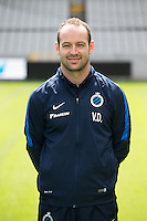 Club's physiotherapist Valentijn Deneulin poses for the photographer during the 2015-2016 season photo shoot of Belgian first league soccer team Club Brugge, Friday 17 July 2015 in Brugge