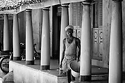 House front in Nagore. East Coast of South India.