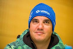 Grega Kostomaj during press conference of Slovenian Alpine Ski team after the end of the season 2016/17, on March 22, 2017 in Telekom Slovenije, Ljubljana, Slovenia. Photo by Vid Ponikvar / Sportida