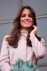 (UK RIGHTS ONLY) Catherine, Duchess of Cambridge, official visit to Cambridge with Prince William, Duke of Cambridge. UK. 28/11/2012<br />BYLINE MUST READ : KG/EAGLEPRESS/GOTCHA IMAGES<br /><br />Copyright by © Gotcha Images Ltd. All rights reserved.<br />Usage of this image is conditional upon the acceptance <br />of Gotcha Images Ltd, terms and conditions available at<br />www.gotchaimages.com
