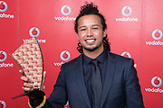 Tommy Nee winner of Most Promising Pacific Artist Award at the Vodafone Pacific Music Awards 2017, held at the Vector Arena.<br /> <br /> Image Credit: Topic