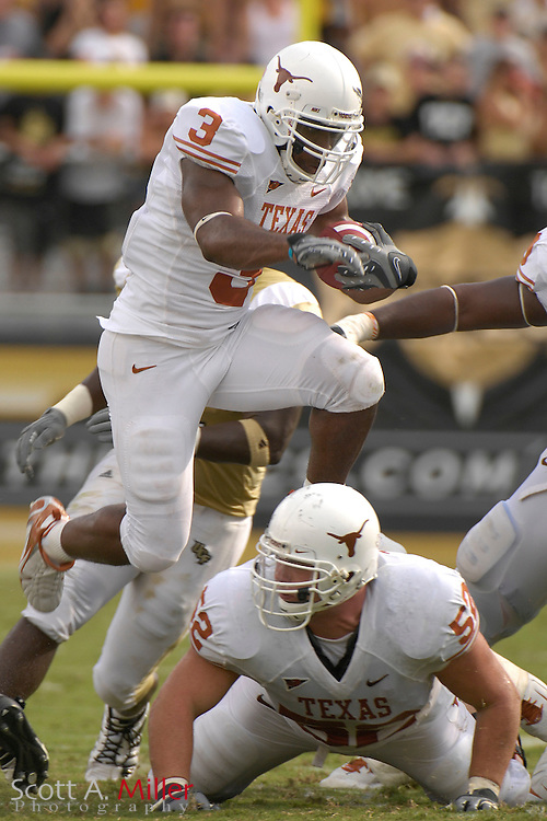 Sept. 15, 2007; Orlando, FL, USA; Texas Longhorns running back (3) Chris Ogbonnaya during his team's game against the Central Florida Knights at Bright House Stadium. Texas won the game 35-32...©2007 Scott A. Miller
