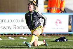 Jonathan Burn of Bristol Rovers warms up - Mandatory by-line: Matt McNulty/JMP - 04/02/2017 - FOOTBALL - Crown Oil Arena - Rochdale, England - Rochdale v Bristol Rovers - Sky Bet League One