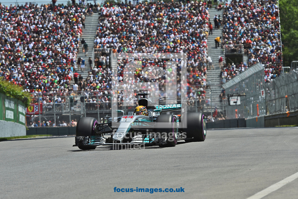 Lewis Hamilton of Mercedes AMG Petronas during the Canadian Formula One Grand Prix qualifying session at the Circuit Gilles Villeneuve, Montreal<br /> Picture by EXPA Pictures/Focus Images Ltd 07814482222<br /> 10/06/2017<br /> *** UK &amp; IRELAND ONLY ***<br /> <br /> EXPA-EIB-170610-0468.jpg
