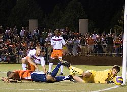 Virginia Cavaliers F/MF Ross LaBauex (8) ..The #4 ranked Virginia Cavaliers men's soccer team tied the Virginia Tech Hokies 1-1 at Klockner Stadium in Charlottesville, VA on September 28, 2007.