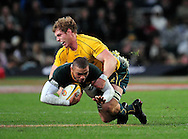 Bryan Habana from South Africa during the Tri Nations Test match between South Africa and Australia at the Kingspark Stadium in Durban on 13 Aug 2011..© Gerhard Steenkamp/Superimage