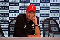 MUNICH, GERMANY - Tuesday, August 1, 2017: Liverpool's manager Jürgen Klopp during a post-match press conference after the Audi Cup 2017 match between FC Bayern Munich and Liverpool FC at the Allianz Arena. (Pic by David Rawcliffe/Propaganda)