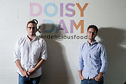 Ed Smith(RIGHT) and Richard Wilkinson<br /> Founders of chocolate bars business Doisy &amp; Dam on August 14.  2015.<br /> <br /> Photos Ki Price