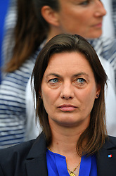 France's head coach Corinne Diacre during FIFA Women's World Cup France group A match France v Brazil on June 23, 2019 in Le Havre, France. France won 2-1 after extra time reaching quarter-finals. Photo by Christian Liewig/ABACAPRESS.COM