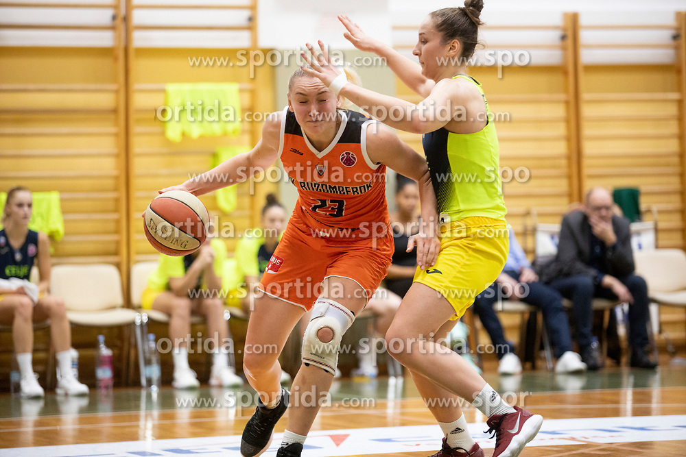 Olha Yatskovets of MBK Ruzomberok in action during basketball match between ZKK Cinkarna Celje (SLO) and MBK Ruzomberok (SVK) in Round #6 of Women EuroCup 2018/19, on December 13, 2018 in Gimnazija Celje Center, Celje, Slovenia. Photo by Urban Urbanc / Sportida