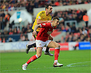 Aden Flint, Kike during the Sky Bet Championship match between Bristol City and Middlesbrough at Ashton Gate, Bristol, England on 16 January 2016. Photo by Daniel Youngs.