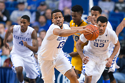 Kentucky guard Isaiah Briscoe leads a fast break in the second half. <br /> <br /> The University of Kentucky hosted the University of Missouri, Wednesday, Jan. 27, 2016 at Rupp Arena in Lexington.