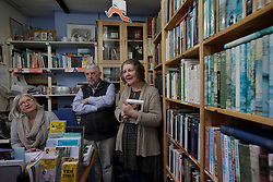 UK ENGLAND FOWEY 19FEB15 - Ann &amp; David Willmore, proprietors of Bookends of Fowey, Cornwall, England, a specialist bookshop on literature by famous English novelist Daphne Du Maurier. Fowey, a small fishing and harbour village was the living place of famous English writer Daphne Du Maurier and many of her novels are based here.<br /> <br /> jre/Photo by Jiri Rezac<br /> <br /> &copy; Jiri Rezac 2015