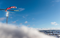 24.02.2017, Lahti, FIN, FIS Weltmeisterschaften Ski Nordisch, Lahti 2017, Nordische Kombination, Skisprung, im Bild Samuel Costa (ITA) // Samuel Costa of Italy during Skijumping of Nordic Combined competition of FIS Nordic Ski World Championships 2017. Lahti, Finland on 2017/02/24. EXPA Pictures © 2017, PhotoCredit: EXPA/ JFK