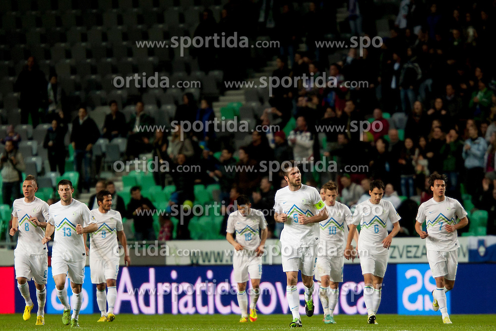 during football match between National teams of Slovenia and Iceland in Group E of FIFA World Cup 2014 Qualification on October 12, 2012 in SRC Stozice, Ljubljana, Slovenia. (Photo By Urban Urbanc / Sportida)
