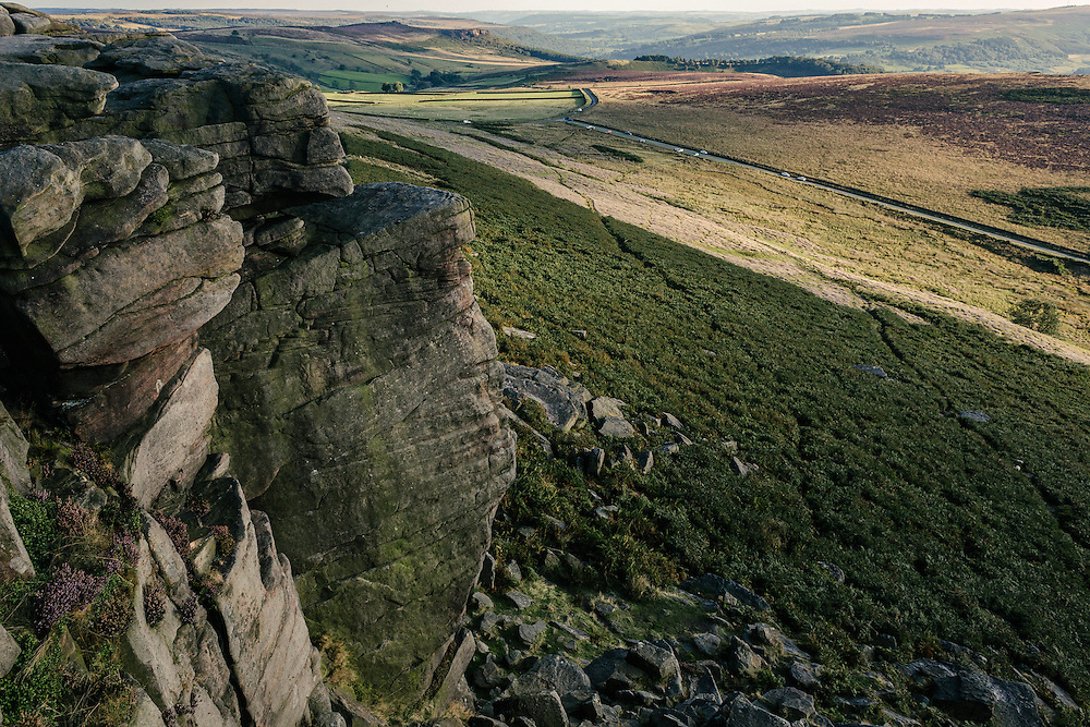 The view from the top of Stanage Edge.