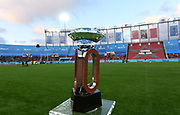 Jun 16, 2019; Rabat, Morocco; Detailed view of the IAAF Diamond League trophy during the Meeting International Mohammed VI d'Athletisme de Rabat at Prince Moulay Abdellah Stadium.