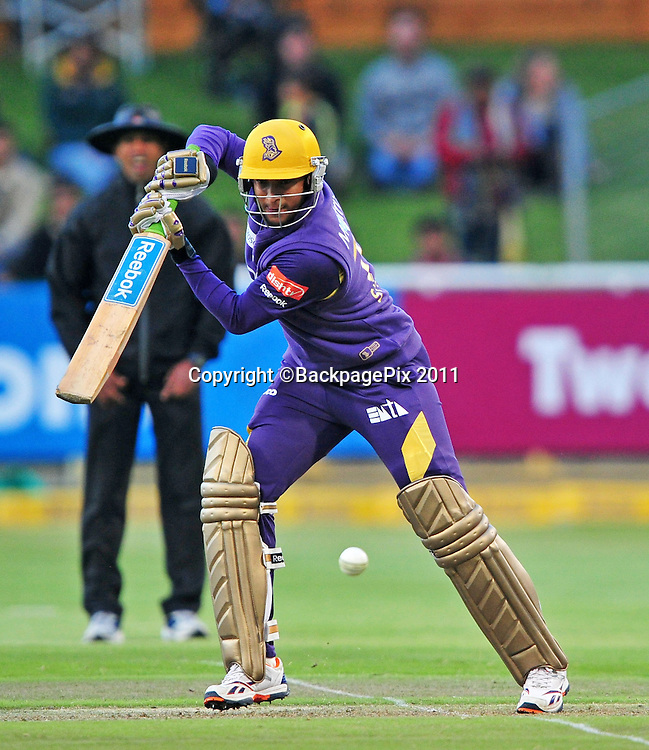 Shakib Al Hassan of the Kolkata Knight Riders during the 2012 Champions League Twenty20 cricket match between the Kolkata Knight Riders and the Auckland Aces at Newlands in Cape Town on 15 October 2012 ©Ryan Wilkisky/BackpagePix