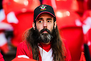 Southampton fan during the The FA Cup match between Chelsea and Southampton at Wembley Stadium, London, England on 22 April 2018. Picture by Sebastian Frej.