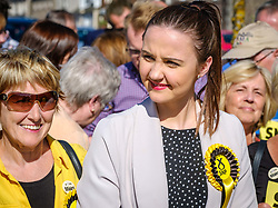 Nicola Sturgeon, Scotland's First Minister joins SNP candidate Mairi McCallan on the campaign trail in Biggar, South Lanarkshire.  Pictured SNP candidate Mairi McCallan.<br /> <br /> (c) Andrew Wilson | Edinburgh Elite media