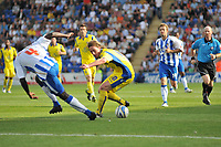 Photo: Tony Oudot/Richard Lane Photography.Colchester United v Leeds United. Coca Cola League One. 29/08/2009. <br /> Luciano Becchio of Leeds goes past Magnus Okuonghae of Colchester