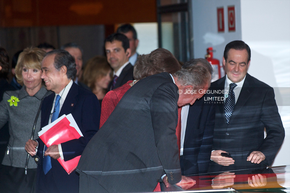 """King Juan Carlos and Queen Sofia attend the Opening of the exhibition """"Maranon and his time (1887-1960)."""