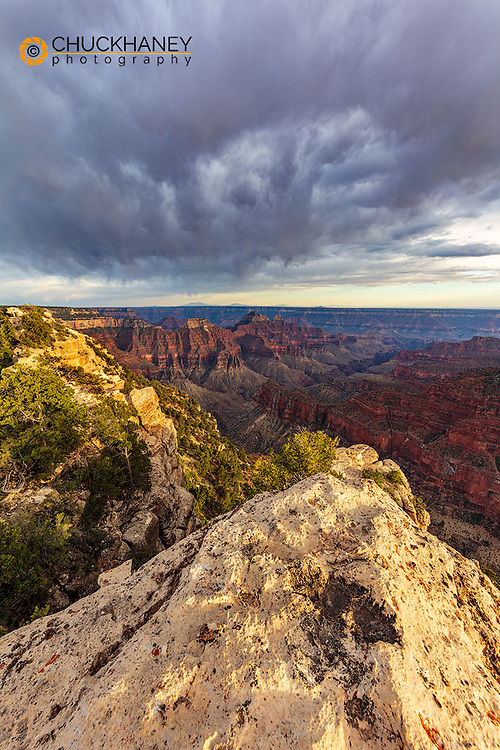 View from Bright Angel Point on the North Rim of Grand Canyon National Park, Arizona, USA