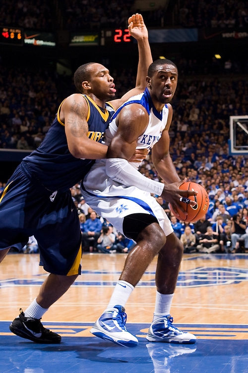 UK junior forward Patrick Patterson. UK celebrated its 2,000th victory Monday, Dec. 21, 2009 at Rupp Arena in Lexington, Ky. UK defeated Drexel 88-44.  Photo by Jonathan Palmer