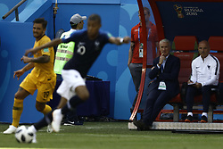 June 16, 2018 - Kazan, Kazan, Russia - Didier Deschamps, Manager of France, looks during the 2018 FIFA World Cup Russia group C match between France and Australia at Kazan Arena on June 16, 2018 in Kazan, Russia. (Credit Image: © Mehdi Taamallah/NurPhoto via ZUMA Press)