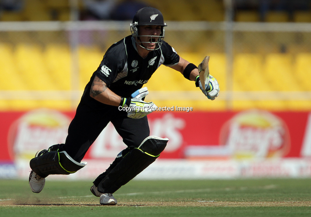 Brendon McCullum batting. ICC Cricket World Cup 2011. New Zealand Black Caps v Zimbabwe. Sardar Patel Stadium. March 4, 2011. Ahmedabad, India. Photo: photosport.co.nz