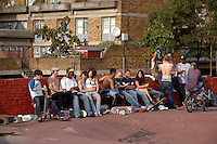 Youth gathering at urban Skate park in Brixton South London.