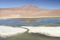 A wild landscape in Nevado de Tres Cruces National Park, Chile.